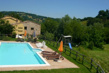 Gorgeous villa, big pool view wifi - Sarnano - 別荘