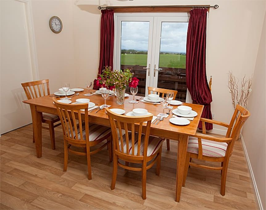 Enjoy the view to Arran from the dining room