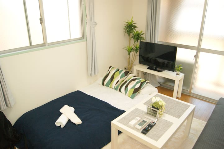Direct to the airport 1min to Sta+Free WIFI 4PAX - Sawara-ku, Fukuoka-shi - Apartamento
