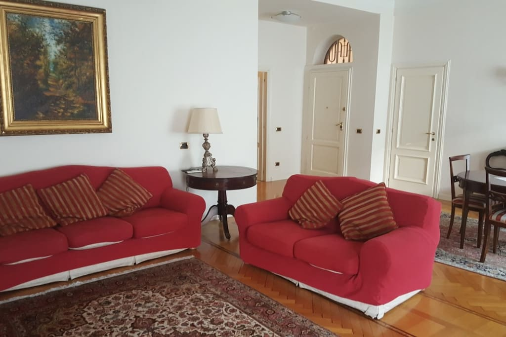 with two sofas