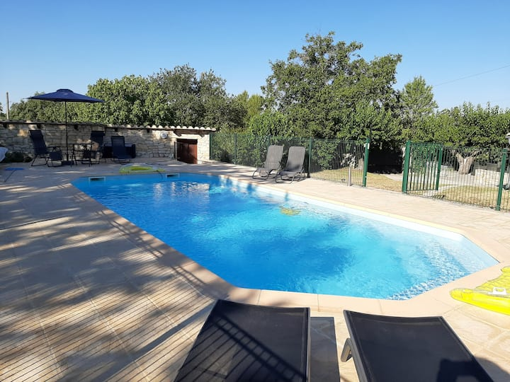 Villa with 5 bedrooms in Méjannes-lès-Alès, with private pool, enclosed garden and WiFi - 80 km from the beach