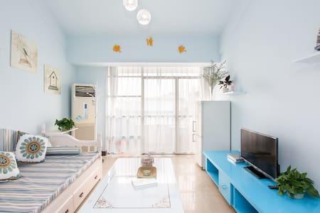 市中心民宿#撒清欢#地中海风格复式公寓#可多人入住 - 桂林 - 公寓
