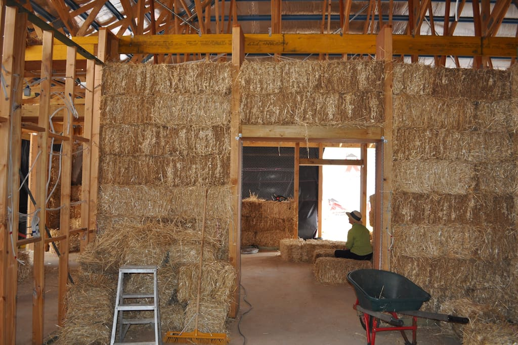 Yes it is really a straw bale house (completed August 2013)