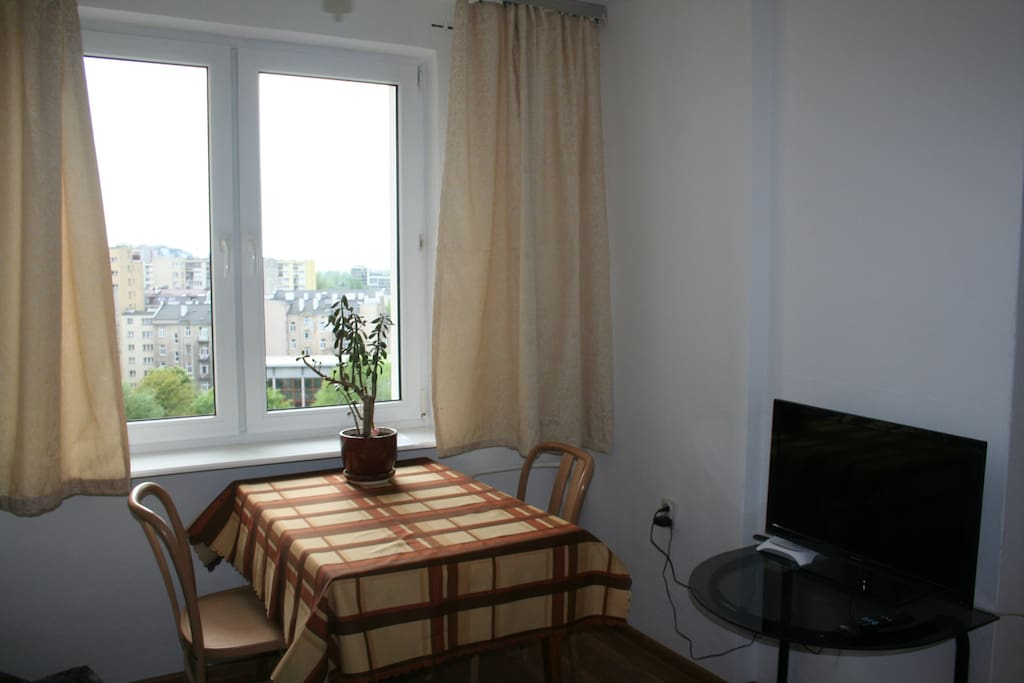 The apartment has everything you need - including a flat screen tv :-)