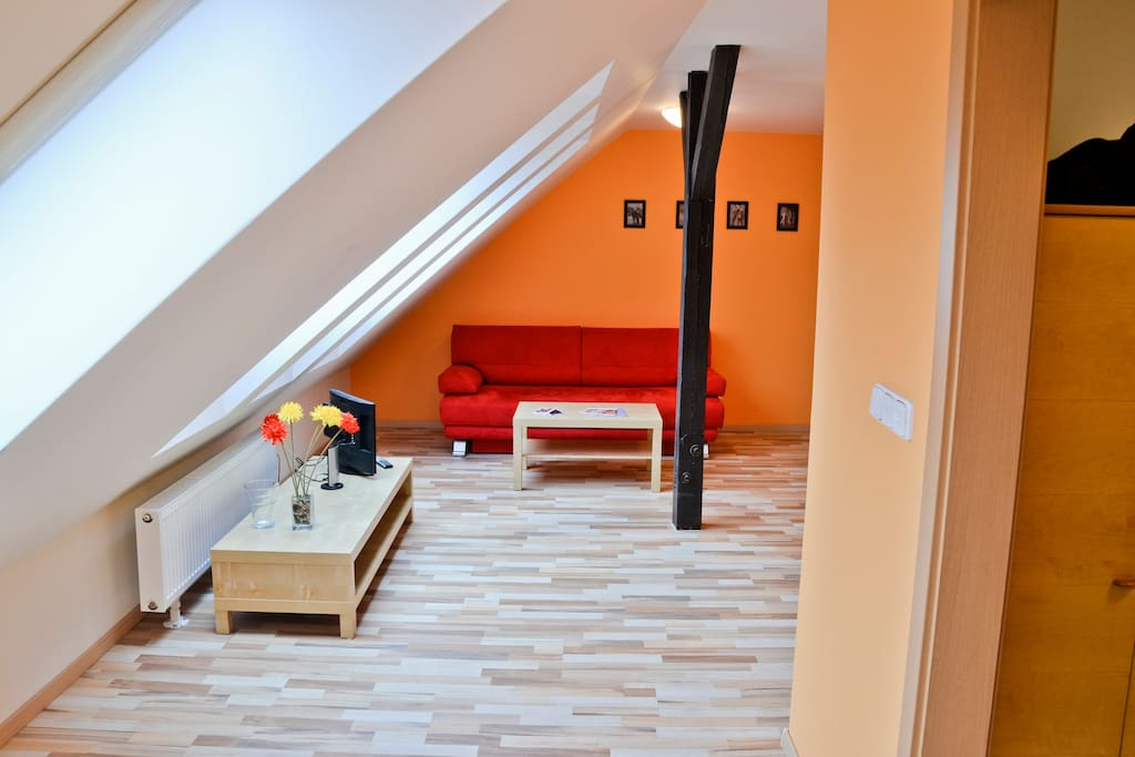 Jane 39 s attic apartment with easy access to centre flats - Setting up an attic apartment ...