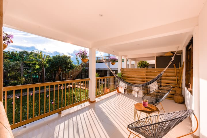 Luxury Hotel - Terrace with Hammock & Garden View