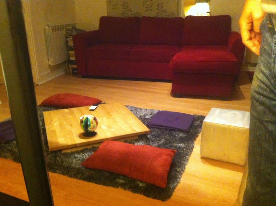 canapé-lit double d'angle