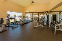 The Copala clubhouse gym is air conditioned and has brand new equipment!
