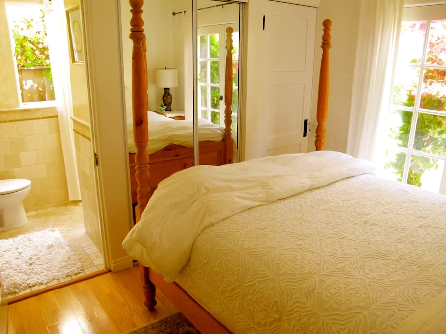 The guest bedroom & its ensuite bath room.