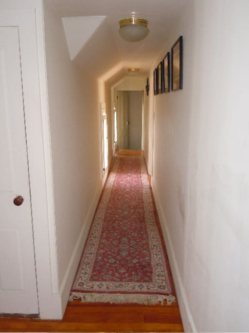 Hallway that connects all the rooms