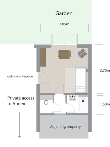 Private Annexe in central Cambridge