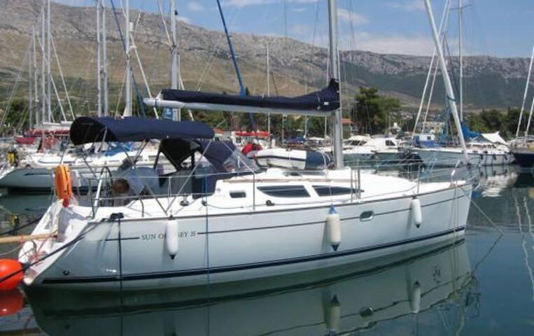 Beautiful sailing boat in Corfu's marina - Gouvia