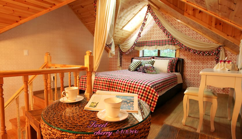 Sweet Cherry room with Bubble Spa! - Sang-myeon, Gapyeong-gun - Villa