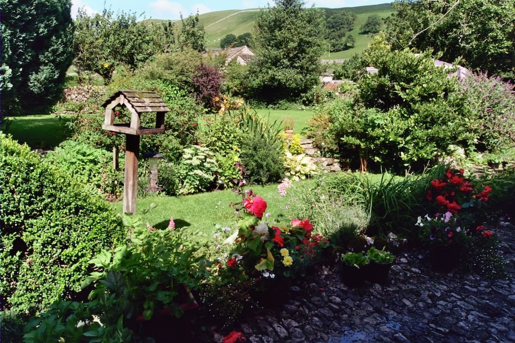 Our garden overlooking The Fells and River Wharfe