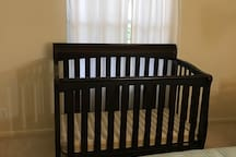 Crib in bedroom 2