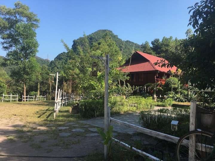 Large bedroom in Cat Ba National Park