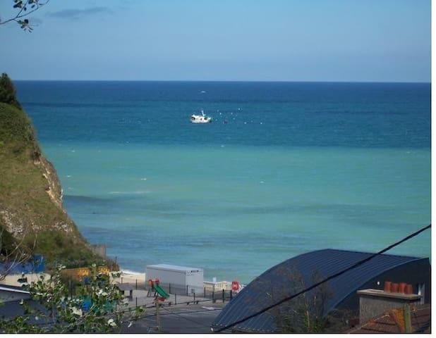 Gitedesdalles terrasse vue  imprenable sur mer
