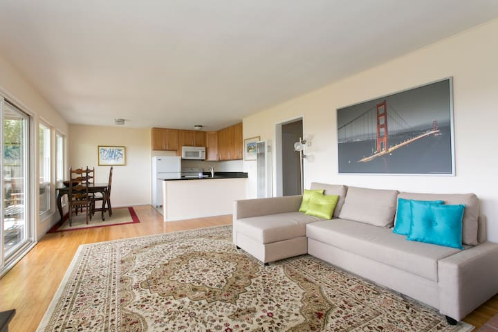 Water View, Cute, Walk it all! - Sausalito - Leilighet