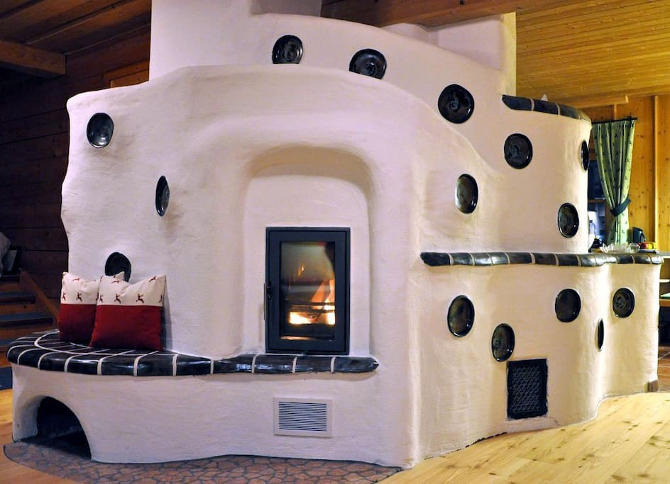 Wood burning stove - the center of the 2 storey flat