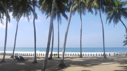 Bed and Breakfast på privat strand
