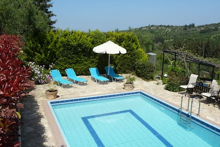 Villa Toula with pool, Nr Armeni - Villa