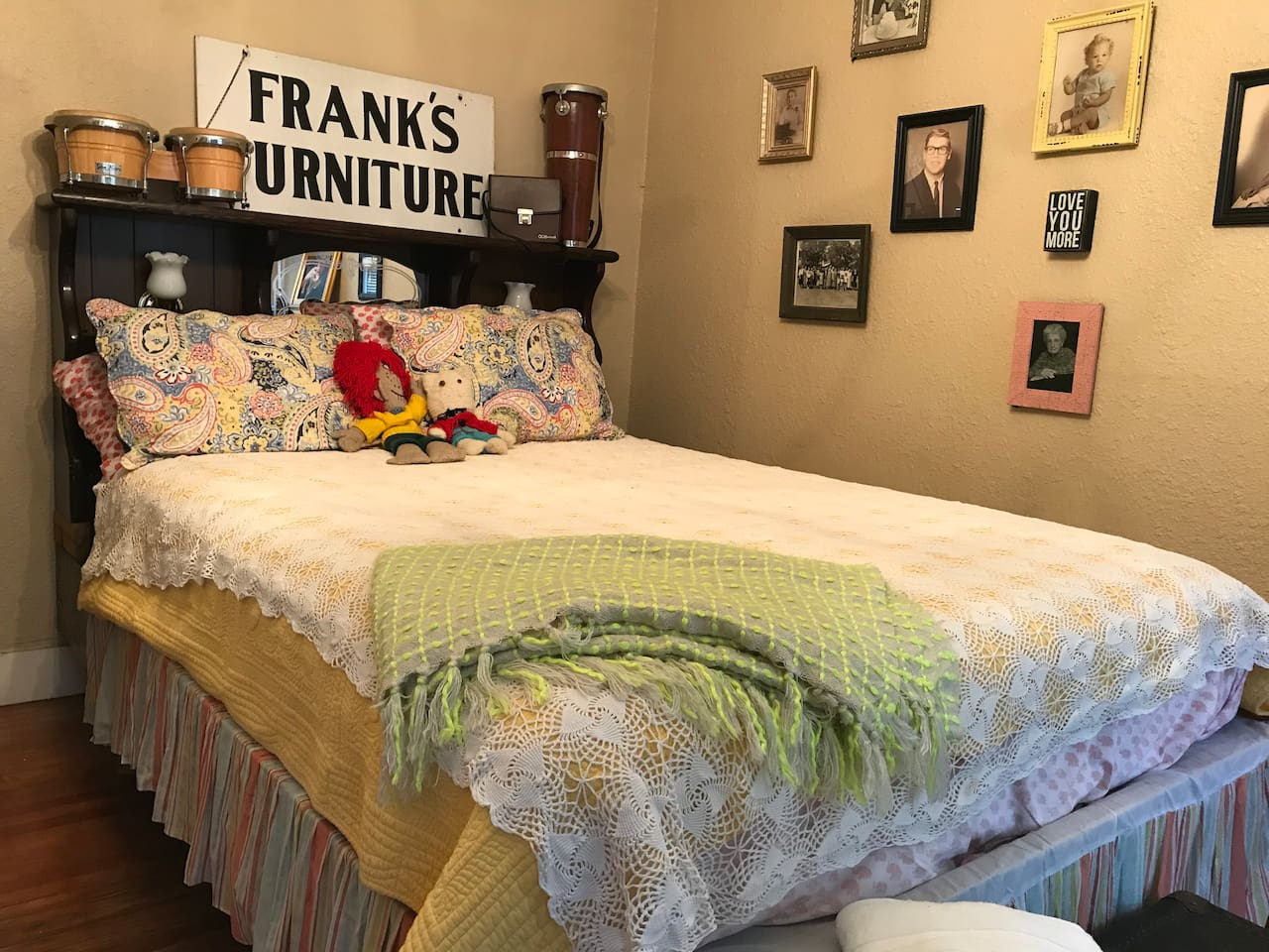 Guest bedroom with brand new pillow top mattress