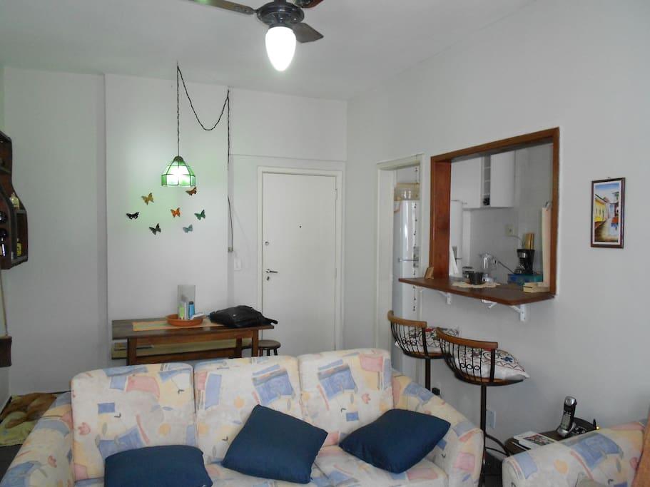 Sitting room + dining room + kitchen