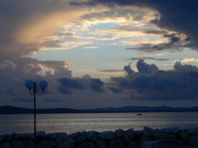 in a quiet position,across the sea...DIKLO-beautiful scenery,area and a place where the apartment is located