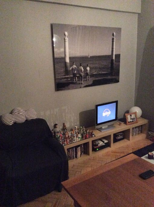 Living Room With TV and Internet #