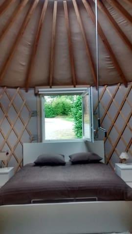 Chambre atypique dans une yourte proche Landerneau - La Roche-Maurice - Iurta