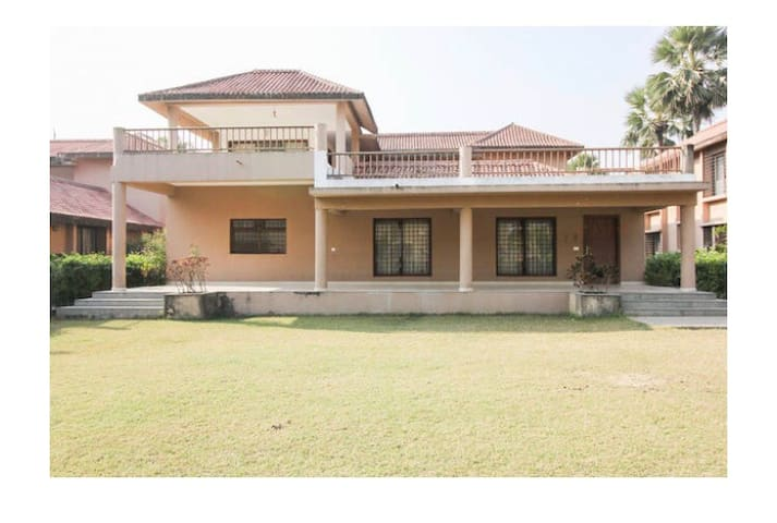5 BHK FARMHOUSE VILLA IN VEDIC VILLAGE WITH GARDEN