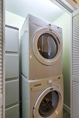 Keep your belongings fresh and clean by utilizing the laundry machines.