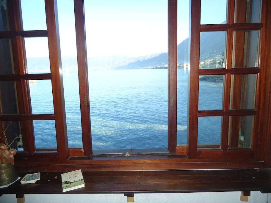The sea view from the ground floor window
