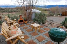 Private patio with BBQ & fire pit (complimentary one-use supply of charcoal included)