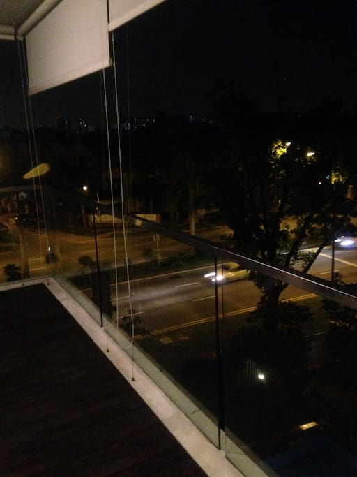 Balcony at night