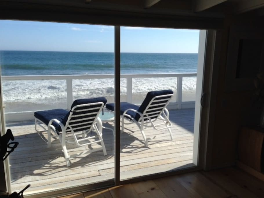 beach and deck view from middle of studio