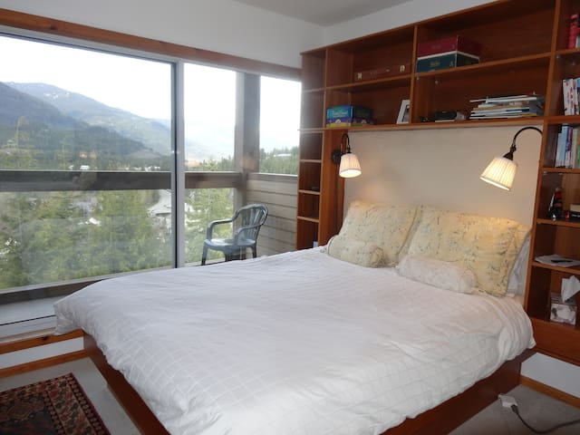 Master bedroom with great mountain views
