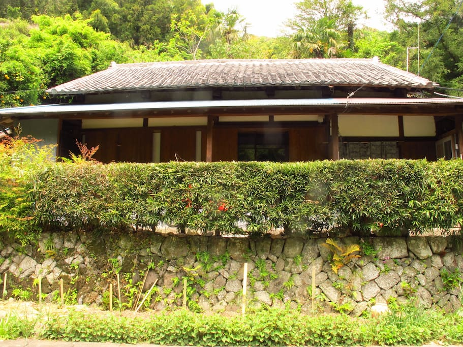 Traditional Japanese house in the mountains.
