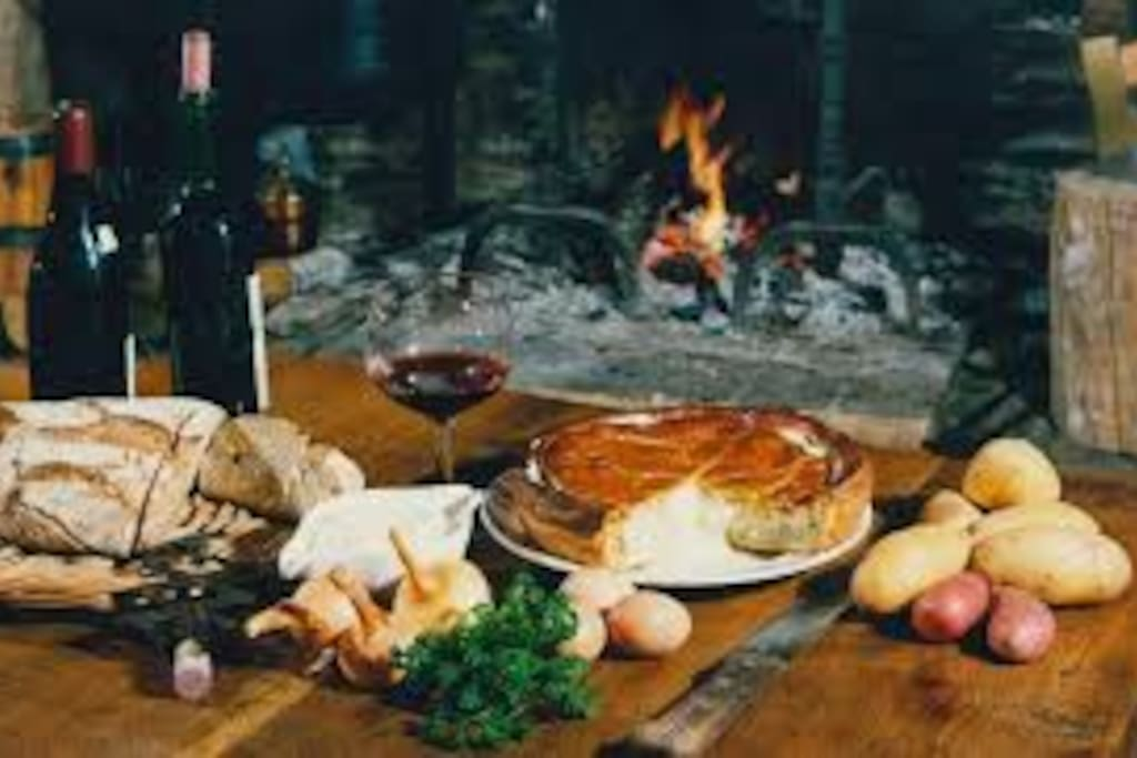 Enjoy paté de pomme de terre ( Creuse speciality) in front of your fireplace