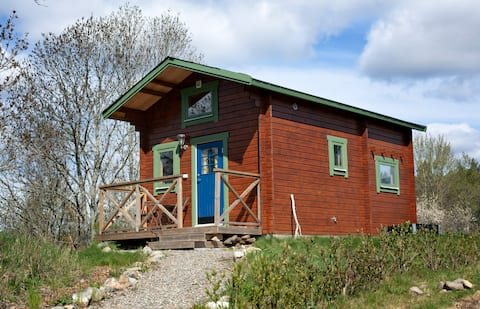 Cozy cabin in beautiful nature setting