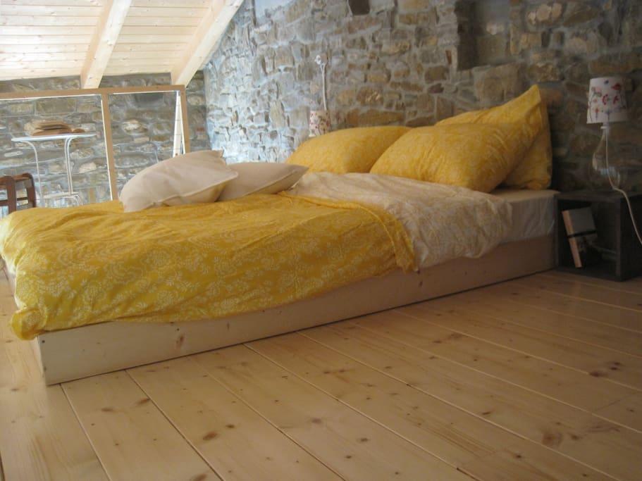 Il letto sul soppalco