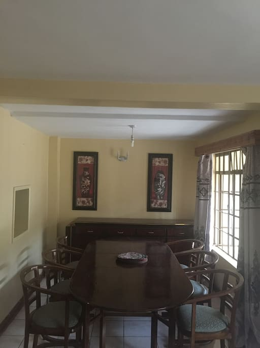 Enjoy your meal in the dining room