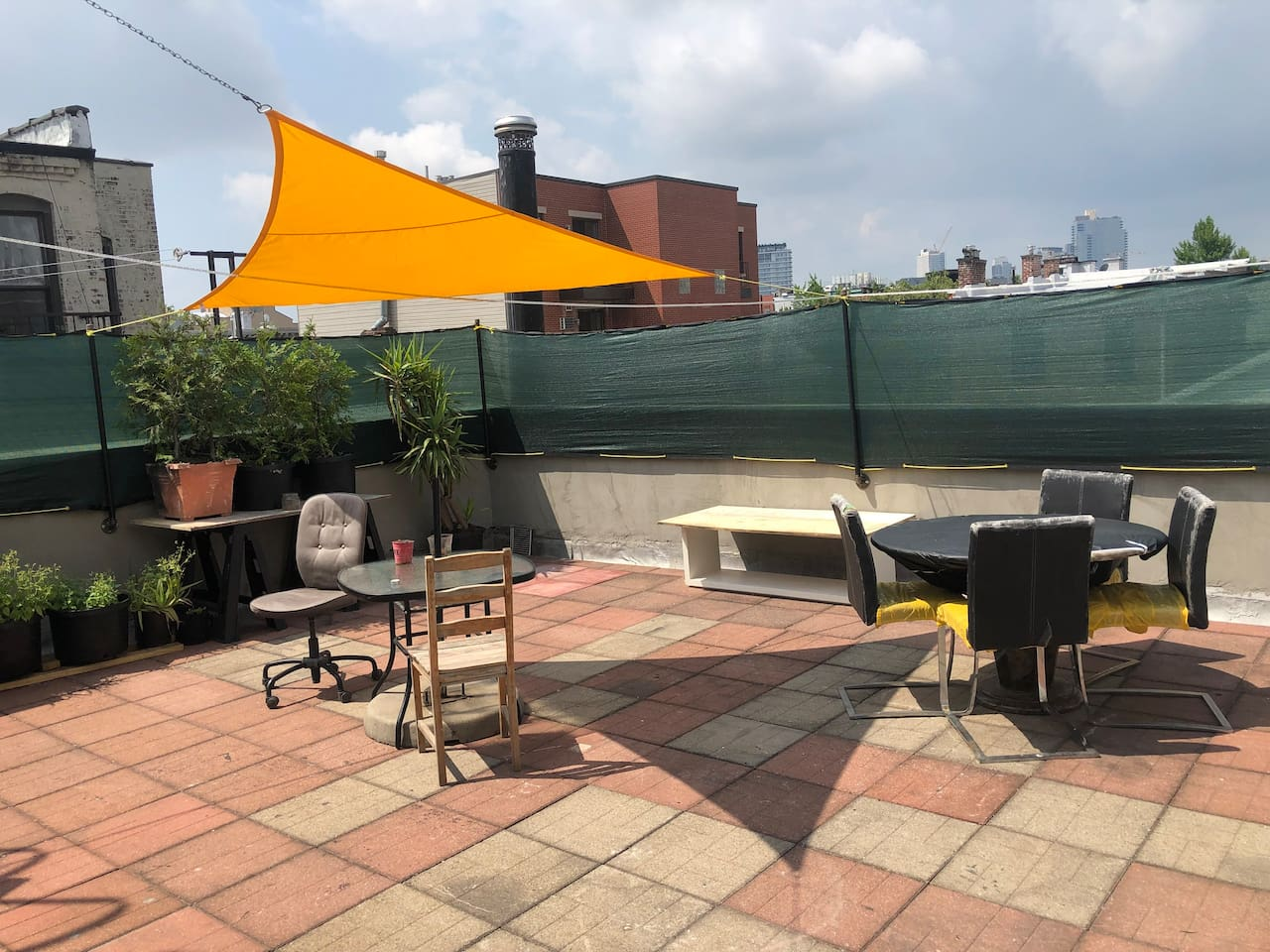 Private rooftop terrace just for apartment