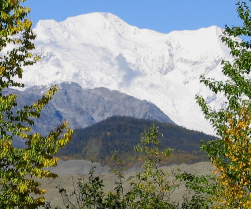 Mt. Blackburn is the 4th highest peak in N. America and is just out the backdoor.