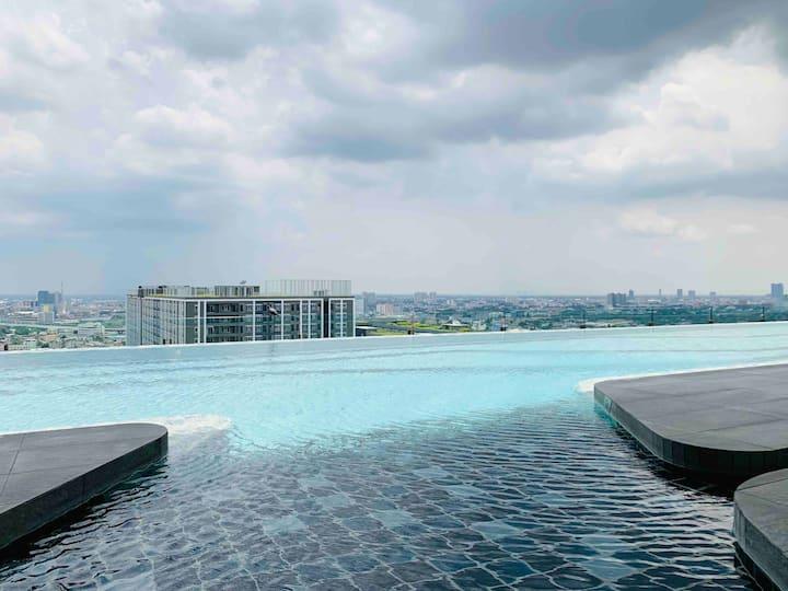 High FL IDEO 1BR Wongsawang @MRT Bangson #Brandnew