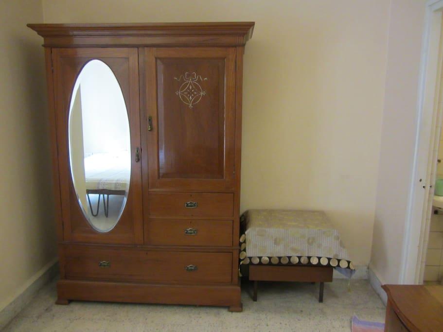 Antique furniture. Burma teak wardrobe
