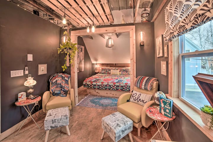 NEW! Rustic Chic Apartment, Walk to Downtown & Bay