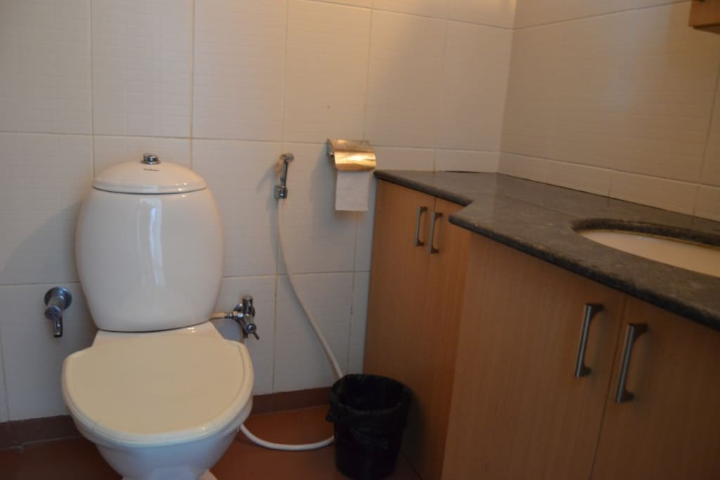 Attached bath and toilet