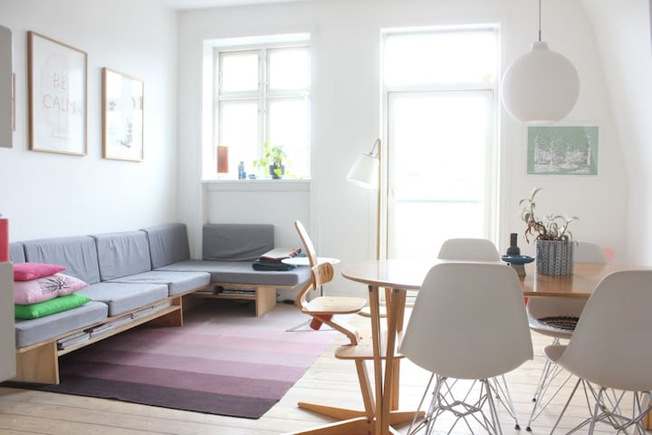 Spacious and bright flat - Kopenhag - Daire