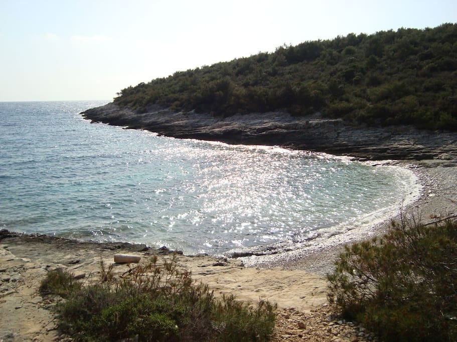 Srebrna beach - just 200m from the house